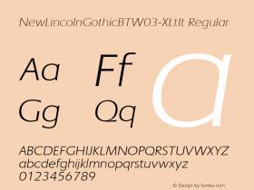 NewLincolnGothicBTW03-XLtIt Regular Version 1.00图片样张