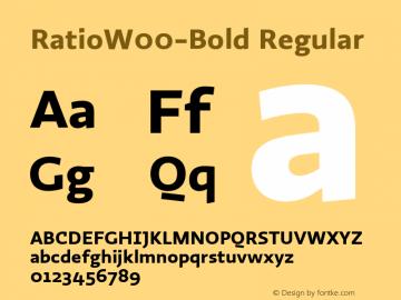 RatioW00-Bold Regular Version 1.10图片样张