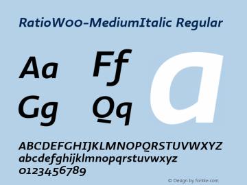 RatioW00-MediumItalic Regular Version 1.10图片样张