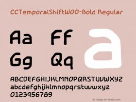 CCTemporalShiftW00-Bold Regular Version 2.00图片样张