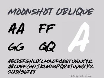 Moonshot Oblique Version 001.000 Font Sample