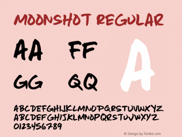 Moonshot Regular Version 001.000图片样张