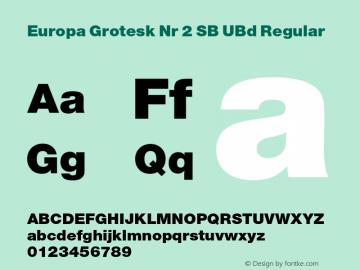 Europa Grotesk Nr 2 SB UBd Regular Version 3.01 2014; ttfautohint (v1.3);com.myfonts.easy.efscangraphic.europa-grotesk-no-2-sb.ult.wfkit2.version.4rqy Font Sample
