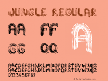 Jungle Regular Unknown Font Sample