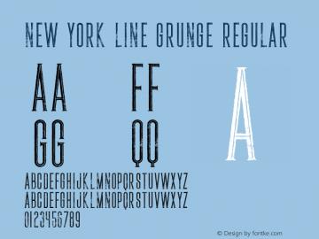 New York Line Grunge Font,NewYorkLineGrunge Font|New York Line