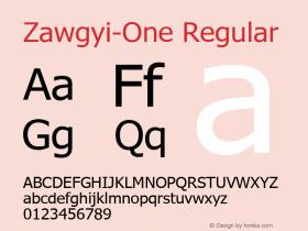 Zawgyi-One Regular 3.1 Februay 10, 2008图片样张
