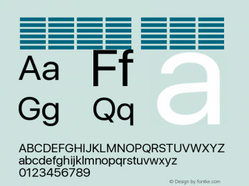 系统字体 常规体 12.0d1e1 Font Sample