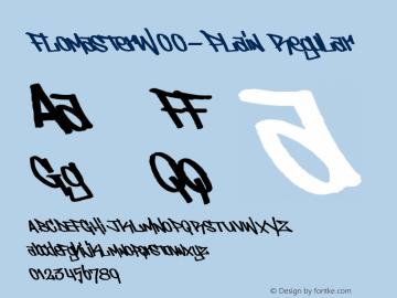 FlomasterW00-Plain Regular Version 1.10图片样张