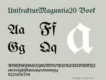 UnifrakturMaguntia20 Book Version 2016-02-21 Font Sample