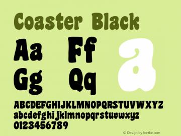 Coaster Black Macromedia Fontographer 4.1 09.05.01 Font Sample