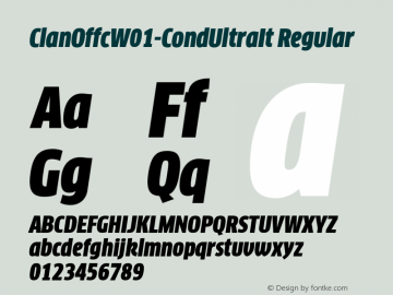 ClanOffcW01-CondUltraIt Regular Version 7.504图片样张