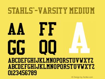 Stahls'-Varsity Font,Stahls'- varsity Font,varsity Font|Stahls