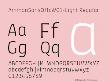 AmmanSansOffcW01-Light Regular Version 7.504图片样张