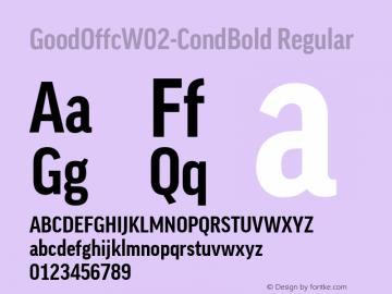 GoodOffcW02-CondBold Regular Version 7.504图片样张