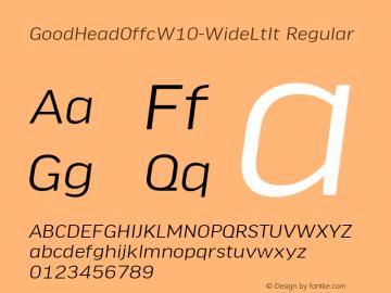 GoodHeadOffcW10-WideLtIt Regular Version 7.504图片样张