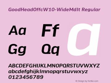 GoodHeadOffcW10-WideMdIt Regular Version 7.504图片样张