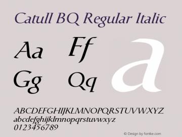 Catull BQ Regular Italic Version 001.000;Core 1.0.00;otf.5.02.2298;46.06MW图片样张
