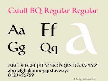 Catull BQ Regular Regular Version 001.000;Core 1.0.00;otf.5.02.2298;46.06MW图片样张