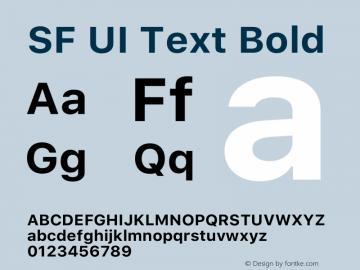 SF UI Text Bold 12.0d0e2 Font Sample