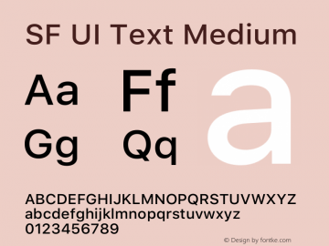 SF UI Text Medium 12.0d0e2 Font Sample