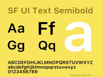 SF UI Text Semibold 12.0d0e2 Font Sample