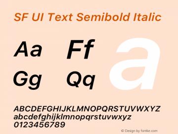 SF UI Text Semibold Italic 12.0d0e2 Font Sample