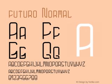 futuro Normal Version 1.000;PS 001.001;hotconv 1.0.56图片样张