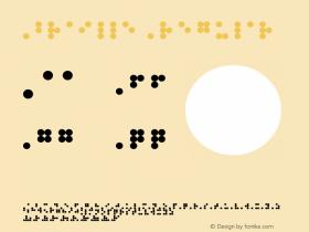 Braille Regular Version 1.0 Font Sample
