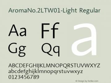 AromaNo.2LTW01-Light Regular Version 2.00图片样张