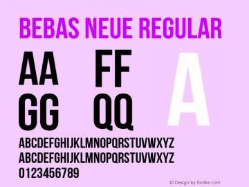 Bebas Neue Regular Version 1.101 Font Sample