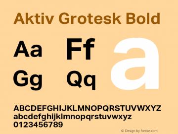 Aktiv Grotesk Bold Version 1.002 Font Sample
