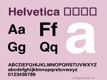 Helvetica ボールド 1.0 Font Sample