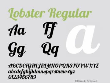 Lobster Regular Version 1.004 Font Sample