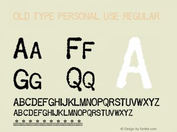 OLD TYPE PERSONAL USE REGULAR 14/8/2006图片样张