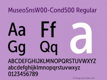 MuseoSnsW00-Cond500 Regular Version 1.00 Font Sample