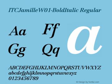 ITCJamilleW01-BoldItalic Regular Version 1.00 Font Sample