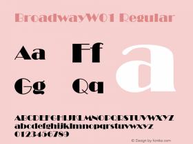 BroadwayW01 Regular Version 1.00 Font Sample