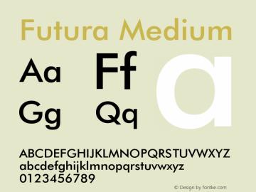 Futura Medium 2.0-1.0 Font Sample