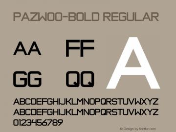 PazW00-Bold Regular Version 1.1 Font Sample