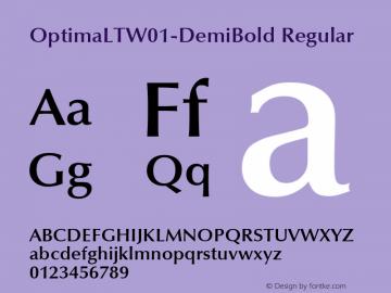 OptimaLTW01-DemiBold Regular Version 1.00 Font Sample