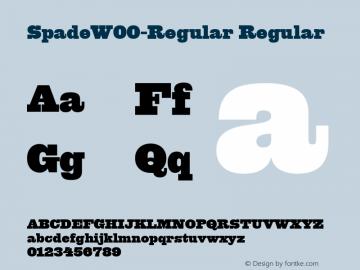 SpadeW00-Regular Regular Version 1.00图片样张