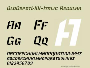 OldDepotW01-Italic Regular Version 1.40图片样张