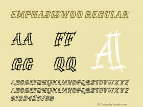 EmphasisW00 Regular Version 1.1 Font Sample