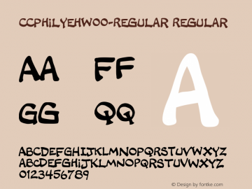 CCPhilYehW00-Regular Regular Version 1.00 Font Sample