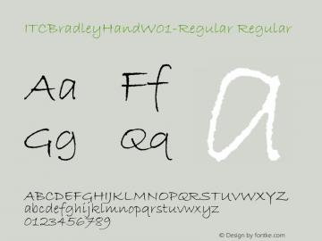 ITCBradleyHandW01-Regular Regular Version 1.1 Font Sample