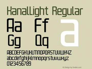 KanalLight Regular Version 4.10 Font Sample
