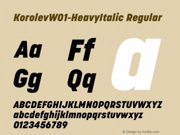KorolevW01-HeavyItalic Regular Version 1.00 Font Sample