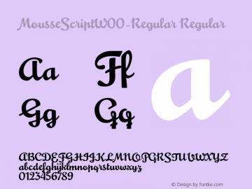 MousseScriptW00-Regular Regular Version 1.1图片样张