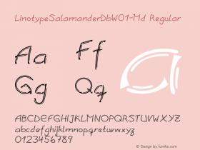 LinotypeSalamanderDbW01-Md Regular Version 1.01 Font Sample