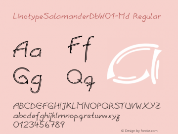 LinotypeSalamanderDbW01-Md Regular Version 1.01 Font Sample